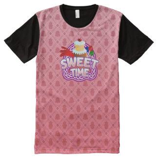 甘い時間のピンクすべての印刷されたTシャツ オールオーバープリントT シャツ