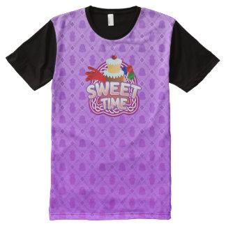 甘い時間の紫色すべての印刷されたTシャツ オールオーバープリントT シャツ