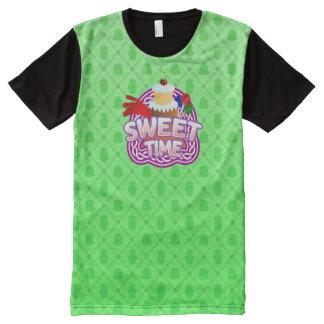 甘い時間の緑すべての印刷されたTシャツ オールオーバープリントT シャツ