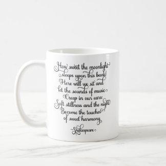 甘い月光、シェークスピアの引用文いかに コーヒーマグカップ