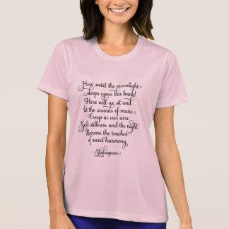 甘い月光、シェークスピアの引用文いかに Tシャツ
