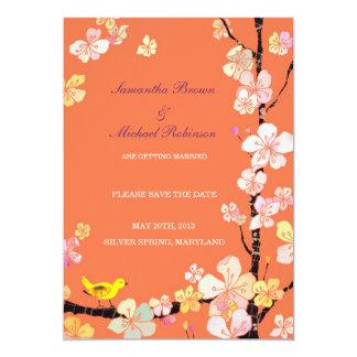 甘い桜の結婚式の保存日付の招待状 12.7 X 17.8 インビテーションカード