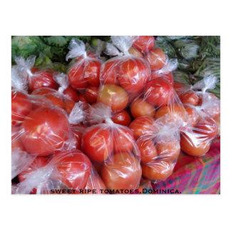 甘い熟したトマト、ドミニカ ポストカード