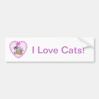 甘い猫 バンパーステッカー