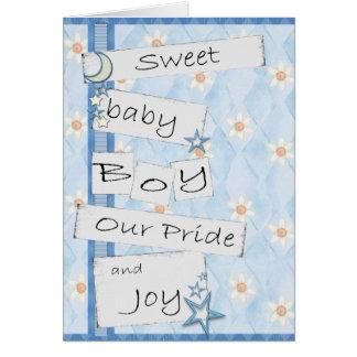 甘い男の赤ちゃん、私達のプライドおよび喜び カード