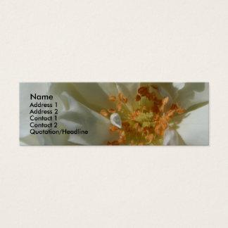 甘い白(2)の白いバラ スキニー名刺