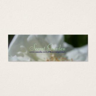 甘い白(3)の白いバラ スキニー名刺