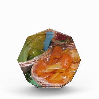 甘い砂糖漬けのフルーツの皮。 イタリアンなレシピ 表彰盾