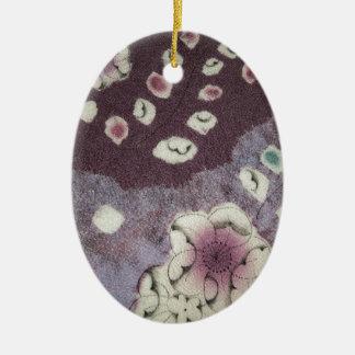 甘い紫色の着物の生地 セラミックオーナメント