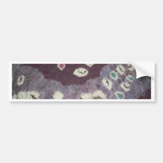 甘い紫色の着物の生地 バンパーステッカー