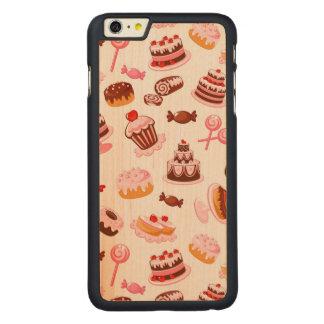 甘い背景 CarvedメープルiPhone 6 PLUS スリムケース