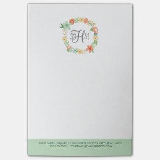 甘い花のモノグラムのポスト・イット ポスト・イット®ノート