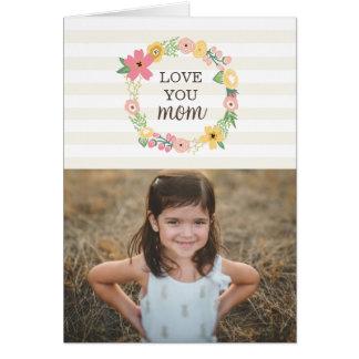 甘い花の母の日の挨拶状 グリーティングカード