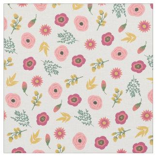 甘い花柄 ファブリック