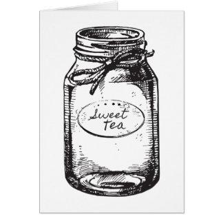 甘い茶メーソンジャーのメッセージカード カード