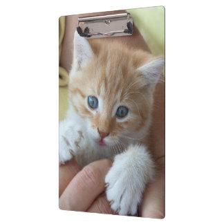 甘い虎猫のベビー クリップボード