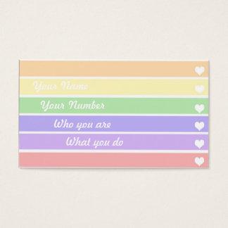 甘い虹のテレホンカード 名刺