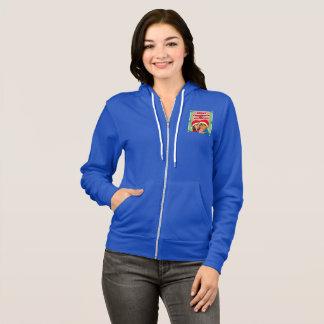 甘い蜂蜜のクリスマスによってファスナーを締められるフード付きスウェットシャツの青 パーカ