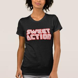 甘い行為の大学レトロ80sユーモア tシャツ