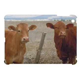 甘い西部の友好的で赤い牛 iPad MINIケース