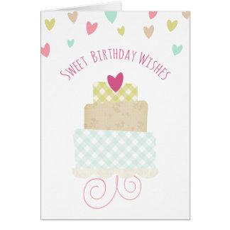 甘い誕生日は挨拶状を望みます グリーティングカード