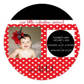 甘い赤ん坊のバレンタインの発表 カード