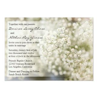 甘い赤ん坊の呼吸結婚式招待状 カード