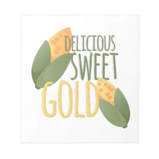 甘い金ゴールド ノートパッド