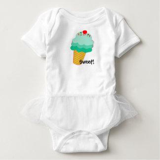 甘い! アイスクリームコーンのベビーのチュチュ ベビーボディスーツ