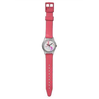 甘いcoral&silverの腕時計 ウオッチ