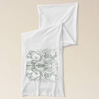 甘いJの白いジャージーのスカーフ スカーフ
