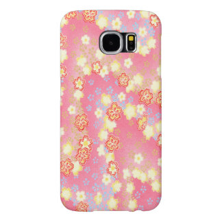 甘いliitleのピンクの花 samsung galaxy s6 ケース