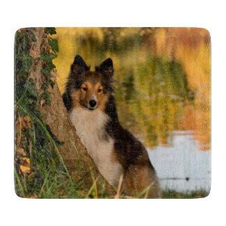 甘くかわいい犬 カッティングボード