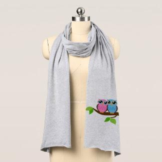 甘くロマンチックなフクロウ スカーフ