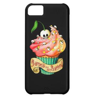 甘く及び致命的なスカルのカップケーキ iPhone5Cケース
