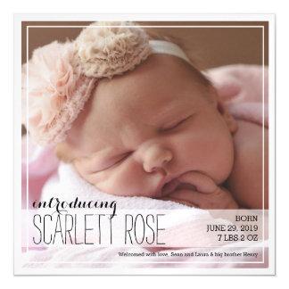 甘く完全な写真のクラシックな赤ん坊の発表 マグネットカード