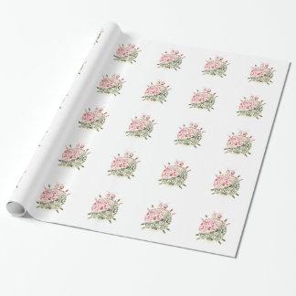 甘く小さい事-花柄 ラッピングペーパー