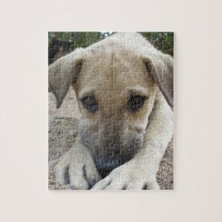 甘く白い子犬のイメージのパズル ジグゾーパズル