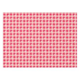 甘く赤いバレンタインの背景 テーブルクロス