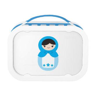 甘く青いMatryoshkaの人形のお弁当箱 ランチボックス