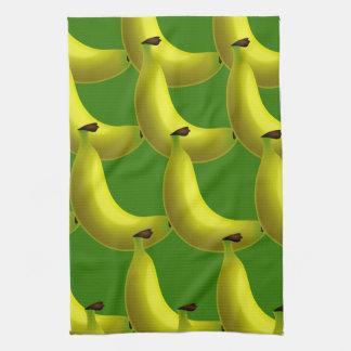 甘く風味がよく黄色いバナナの壁紙のデザイン キッチンタオル