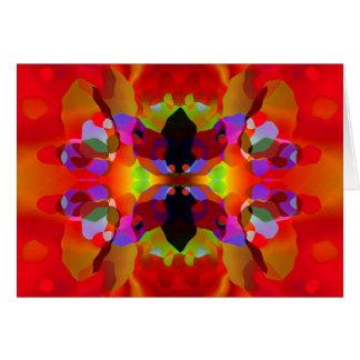 甘美で赤い及び多彩の目まぐるしい美しい カード