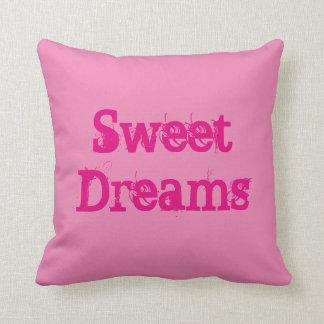 甘美な夢、ピンクのベッドの投球枕 クッション