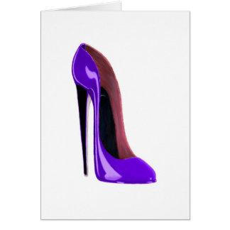 甘美な薄紫の小剣の靴 カード