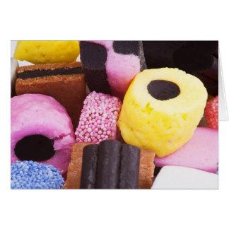 甘草の有名な菓子 カード