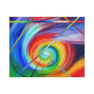 生きた感じること-抽象美術 キャンバスプリント