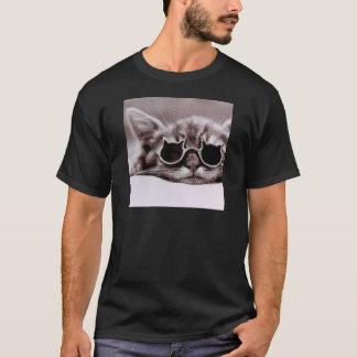 生きた最もクールな猫-男性へ黒いTシャツ Tシャツ