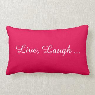 生きているの笑い、愛枕(ピンクの背部) ランバークッション