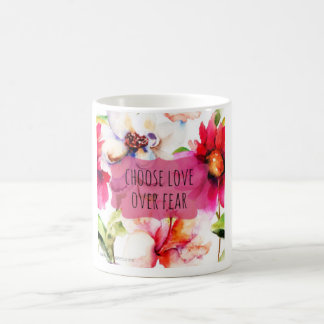 生きているより勇敢なマグ-花 コーヒーマグカップ