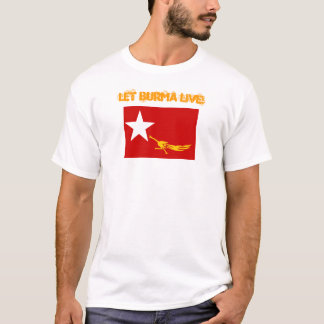 生きているビルマを許可して下さい Tシャツ